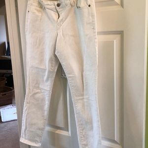 Rockstar Stretch White Ankle length Jeans NWOT